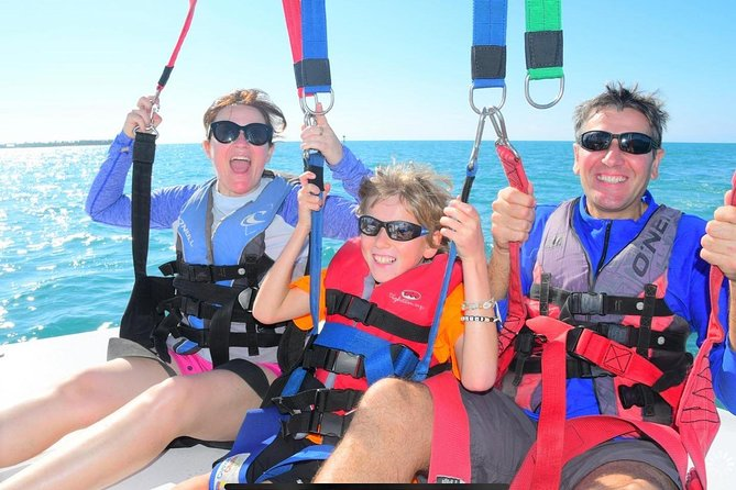 Parasailing at Smathers Beach in Key West