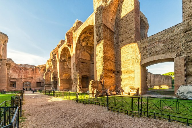 3 Hours Rome E-Bike Tour with the entrance to the Baths of Caracalla
