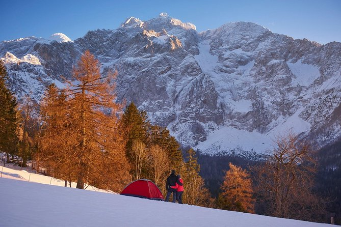 View on one of the most spectacular winter fairytale: Jezersko glacier valley