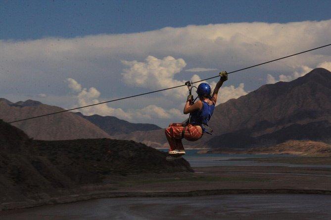 Mendoza: Full day Potrerillos: Rafting down the Mendoza River and CANOPY ADRENALINA