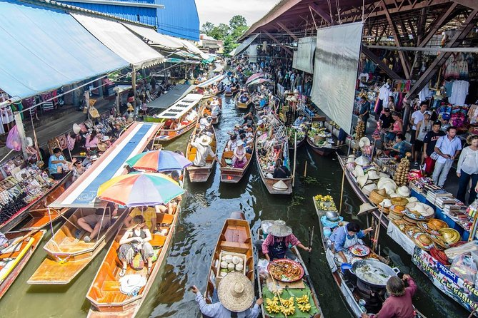 Damnoen Saduak Floating Market and Ayutthaya Full-Day Tour