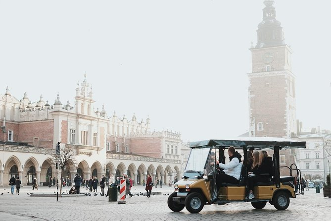 Krakow City Tour by Electric Car with optional Old Synagogue or Town Hall ticket