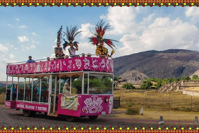 Panoramic Teotihuacán With Nopal Fruit Flavor Onboard A Tramcar