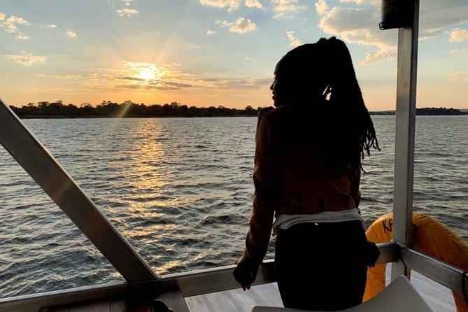 Victoria Falls Sunset Cruise on the Zambezi River with Pick Up