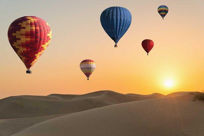 Amazing Views Of Dubai Beautiful Desert By Hot Air Balloon From Dubai