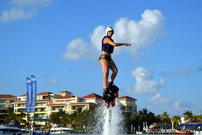 Fly like a Superhero in CANCUN on a FLYBOARD. Training, Equipment, Instructor.