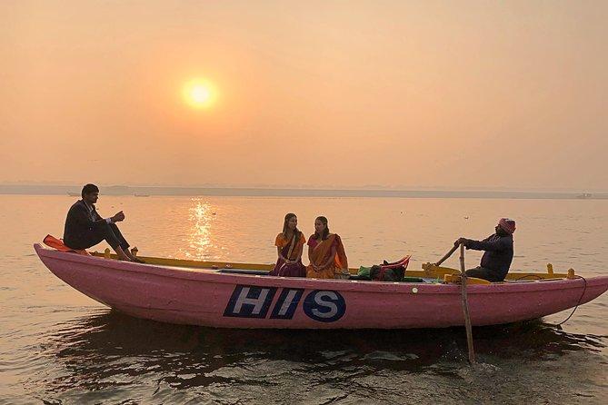 Morning Sun and Bathing Cruise on Ganges River, Varanasi
