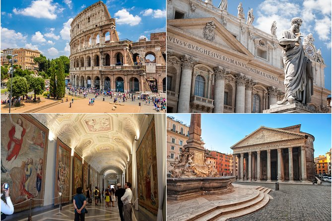 Best of Rome in One Day: Colosseum, Vatican, Squares with Transfers and Lunch