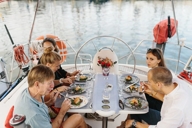 Gourmet tasting menu on a Barcelona sailboat