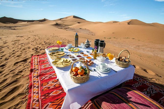 M'Hamid: Overnight in luxury desert camp with Camel Ride, meals & sandboarding