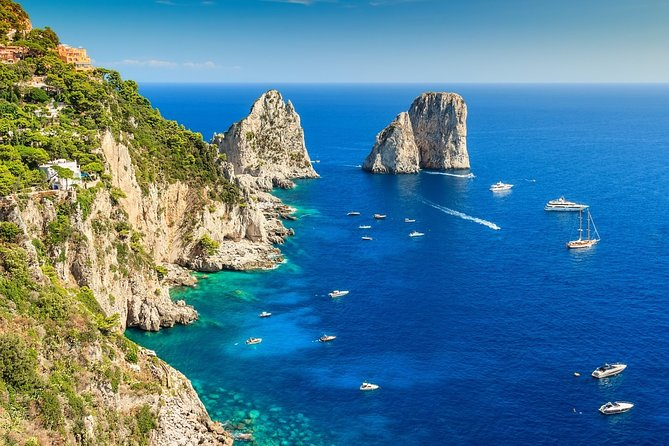 Capri Island and Blue Grotto from Sorrento or Positano or Amalfi or Salerno