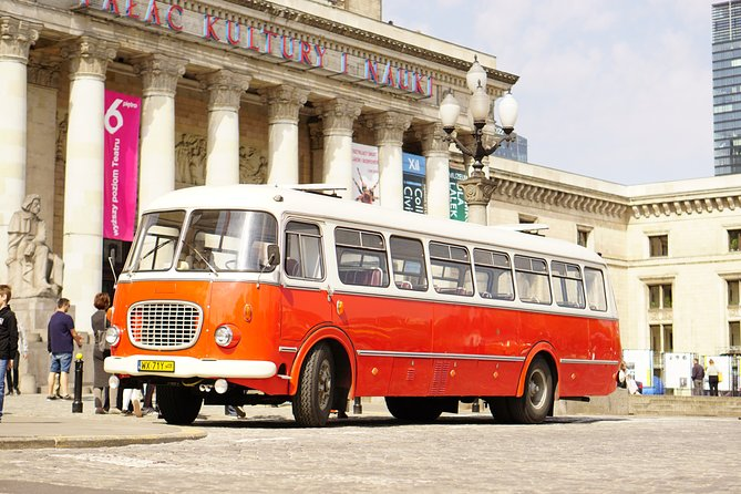Warsaw City Sightseeing in a Retro Bus for Groups