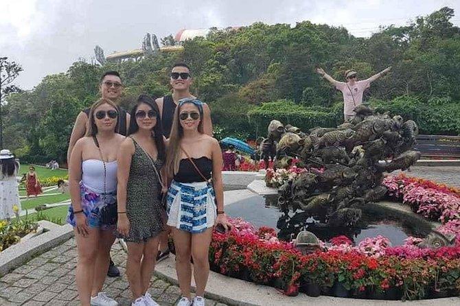 DaNang Fullday Tour :Golden Bridge-Dragon Bridge-Marble Mountain-Monkey Mountain