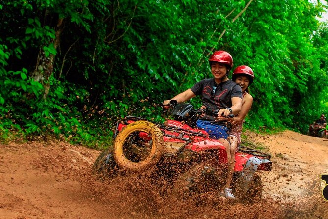 Half-Day ATV Zipline and Swimming Adventure in Riviera Maya