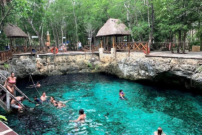 Tour Kaan Luum Lagoon, 2 Cenotes, Tulum, and Playa del Carmen from Cancun