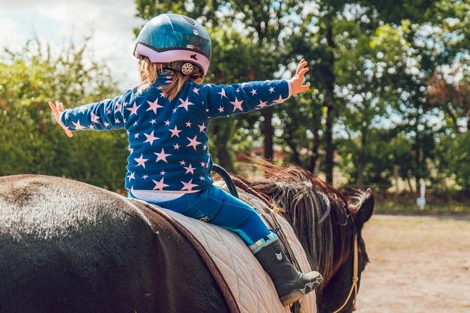 Horseback riding in the educational farm and lunch