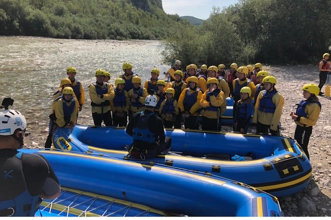 Rafting on beautiful Soča river