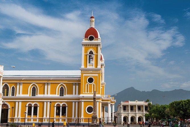 The Cathedral and Mombacho Volcano in the back