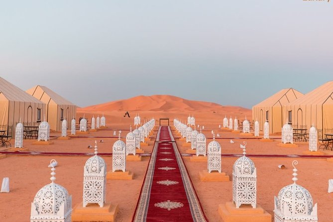 Erg Chebbi: Overnight in Luxury Desert Camp with Camel Ride, meals &sandboarding