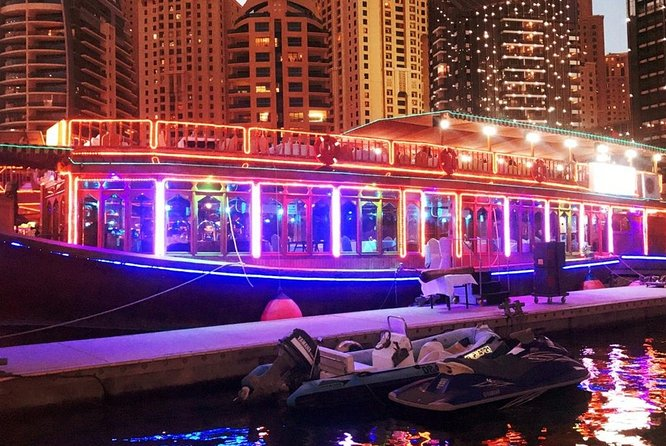 Luxury Marina Dinner Cruise in Dubai With Live Shows With international buffet