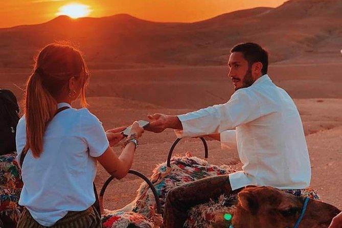 Agafay Desert Sunset & Camel Ride and Magical dinner