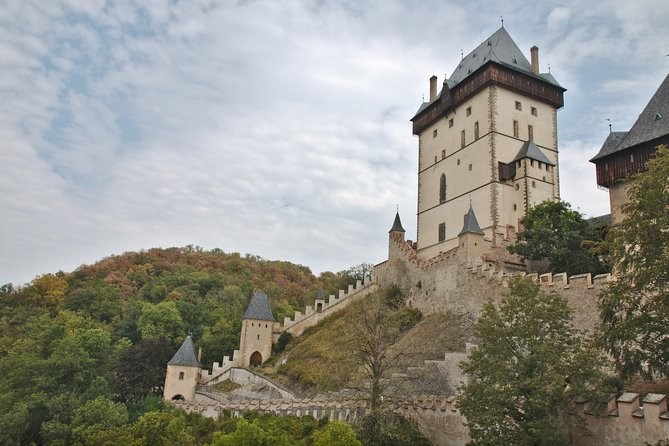 Private Karlstejn castle tour from Prague with Bohemia Glass Factory and Lunch