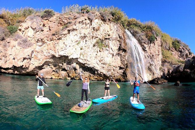 Paddle Surf Route Cliffs Nerja and Cascada de Maro + Snorkel