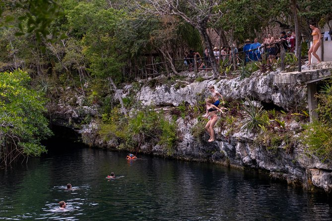Xelha Archaeological Ruins and Zipline in a Cenote