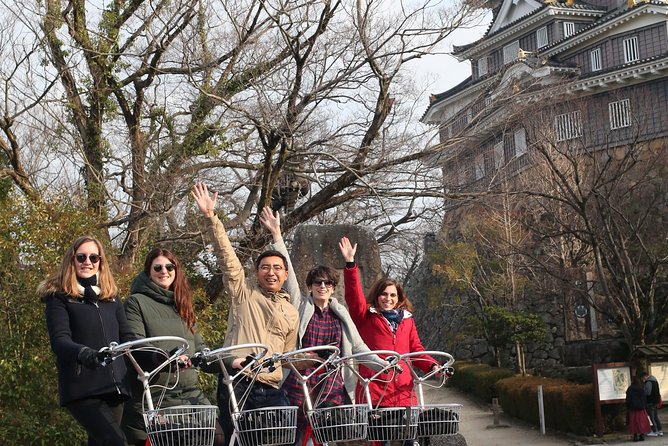 Okayama on a standing bicycle