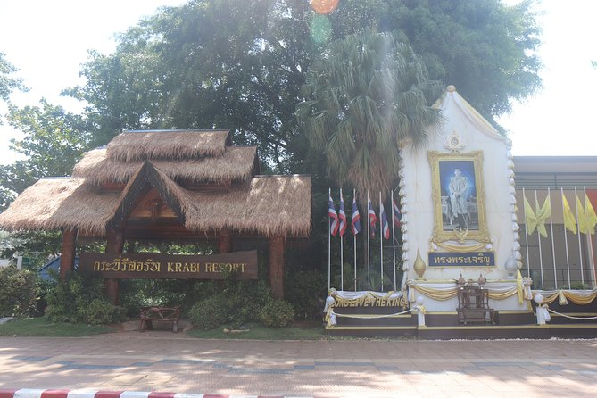 Meeting Point For all Hotels in Ao Nang, outside Krabi Resort (beside the King sign)