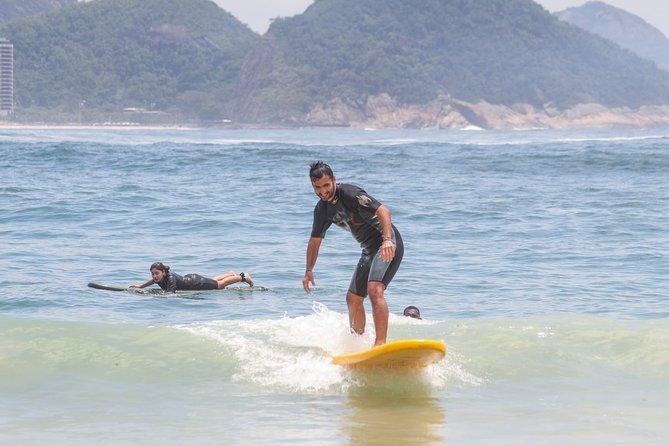 Surf Lesson at Arpoador Beach with Mandala Rio Surf School