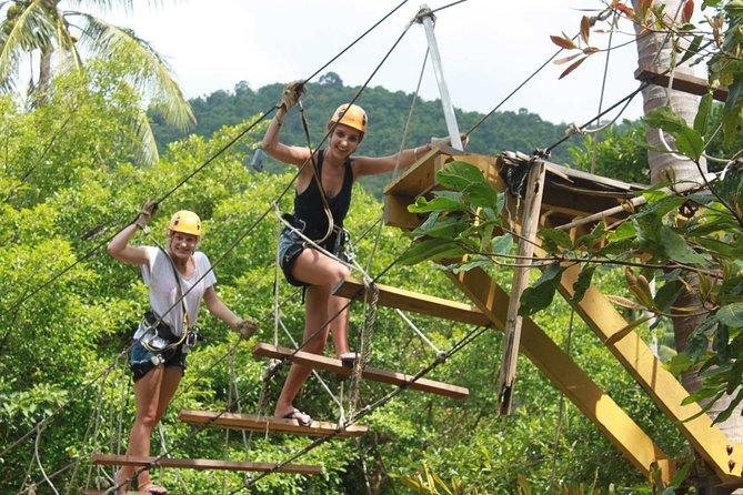 Guided Zipline Adventure in Ko Samui with Round Trip Transfer
