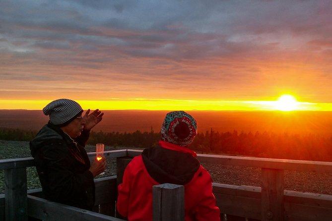 Sunset at the Arctic Circle