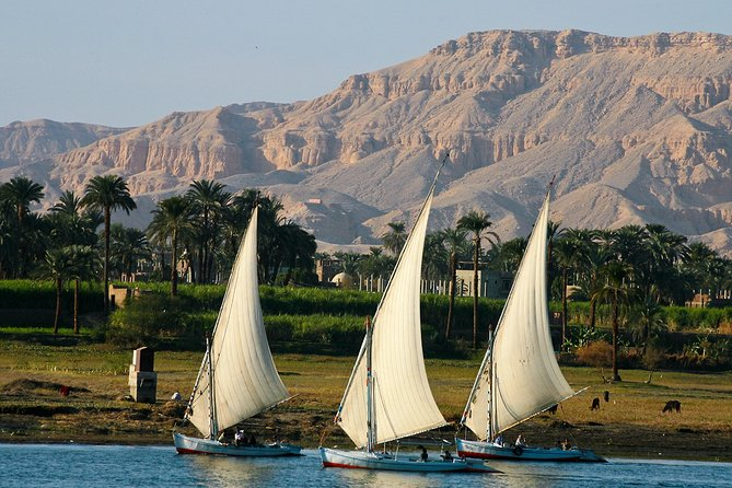 Private Sunset Felucca Tour to Luxor and Banana Island with Camel Ride