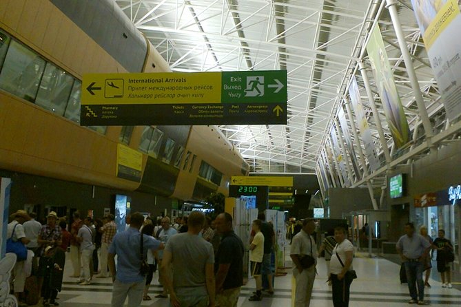 wazup inside the terminal meet & greet at KZN Kazan airport