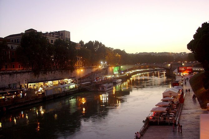 Rome Private Tour by Night with Dinner in Trastevere