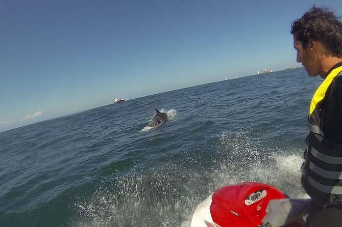 Escorted Coastal Tour by Jet Skis from St. Aubin