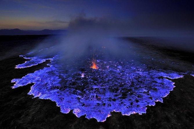 Unique blue fire in Mount Ijen