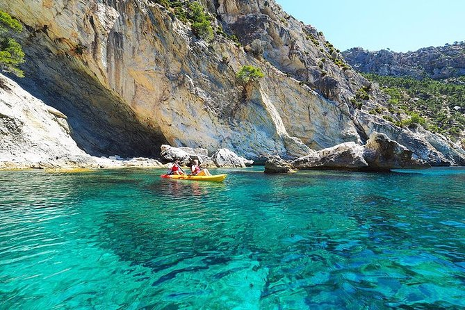 Breathtaking guided Kayak tour from Sant Elm the bay of Cala en Tió