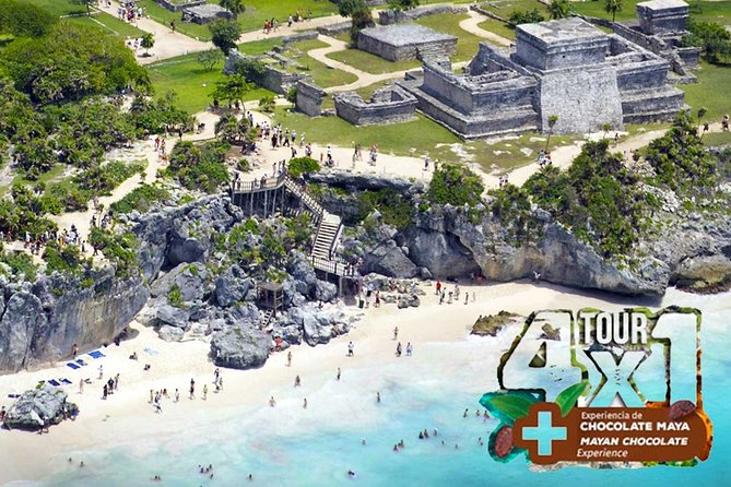 Four for One: Tour Tulum, Coba, Cenote Swim, and Playa del Carmen Day Tour