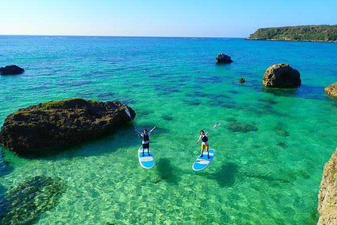 [Okinawa Miyako] 3set! Beach SUP/canoe・Tropical Snorkeling・Pumpkin Limestone Cave