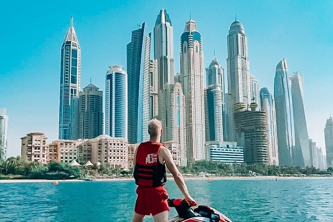 1H JET SKI tour Dubai Marina and Burj al Arab