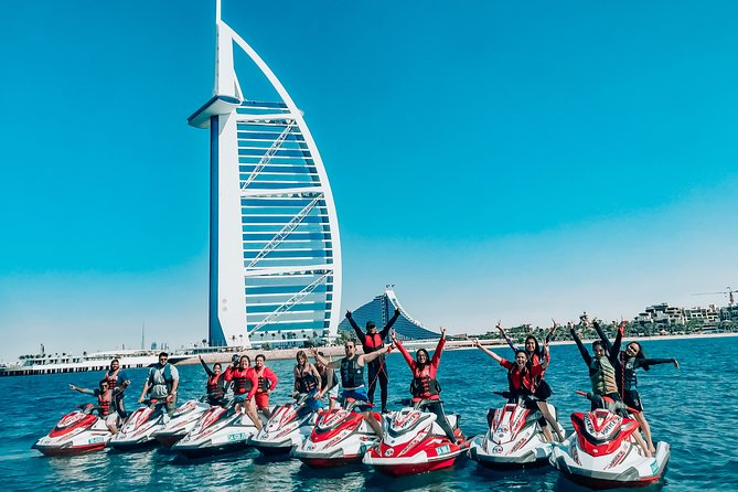 30 Mins Jet Ski Tour Burj al Arab and Burj Khalifa, Dowtown Dubai