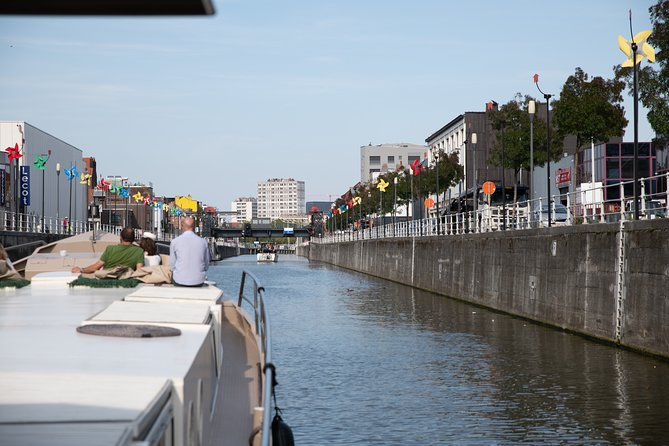 Boat trip Belgian canals on 27m converted barge