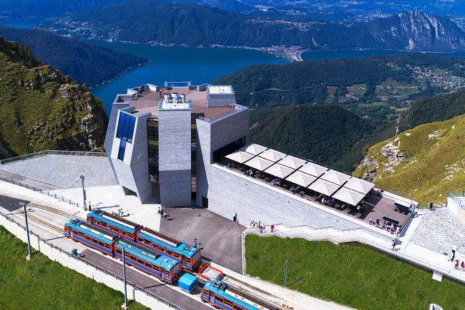 Roundtrip to the Monte Generoso by cogwheel train from Lake Lugano