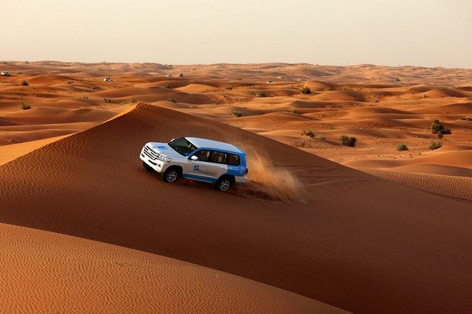 Dubai Overnight Safari: Red Dunes, Camel Trek& BBQs at Al Khayma Camp