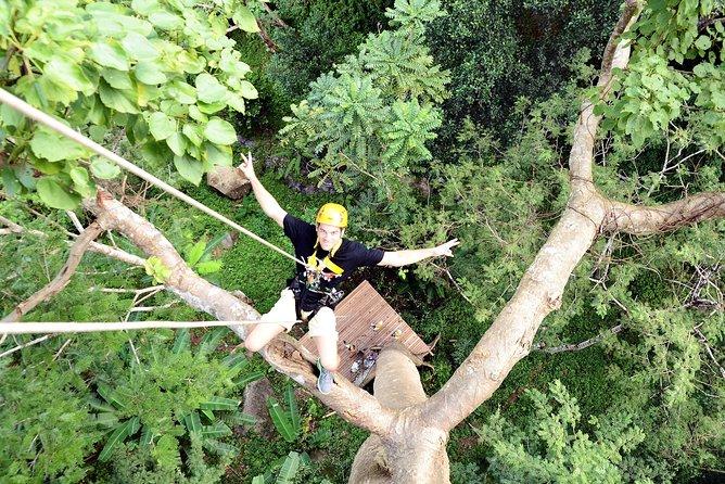 Zip-lining through Phuket's Pristine Jungle