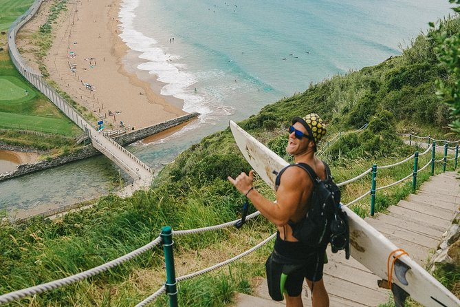 Full-Day Guided Surf Experience at Zarautz Beach with Lunch