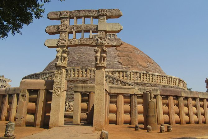Sanchi Stupa and Prehistoric Bhimbetka Rock Paintings from Bhopal