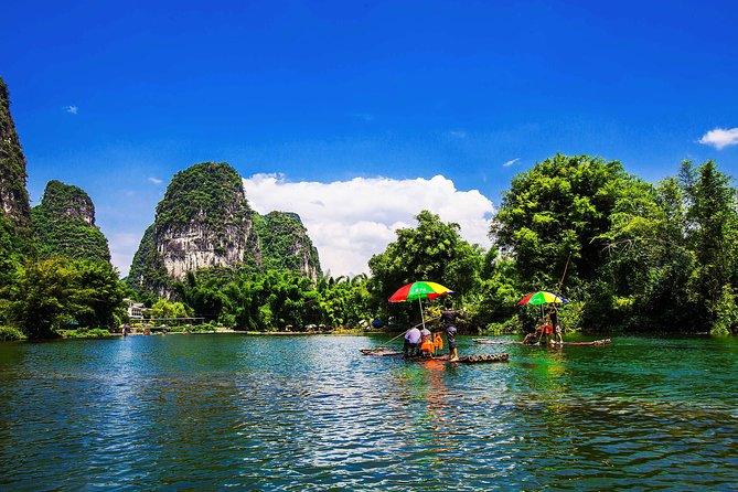 Yangshuo Day Tour: Big Banyan Tree, Moon Hill, West Street, Bamboo Raft Tour